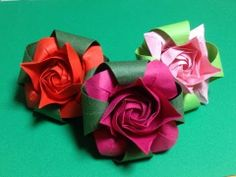 ▶ Only one origami rose 16 Part1 - YouTube