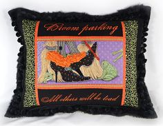 Halloween - It's not your Grandmother's Needlepoint - Needlepoint and embroidery.  This is finished brilliantly :)  Love it