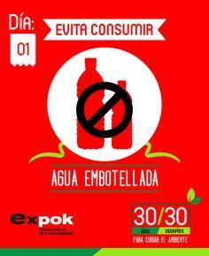 En el mundo se consumen más de 126 mil millones de litros de agua embotellada al año, lo que se traduce en toneladas de botellas plásticas que son desechadas a diario http://www.expoknews.com/dia-1-evita-consumir-agua-embotellada/