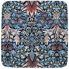 a wonderful coaster with a william morris print on as super absorbent neoprene
