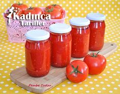 Konserve Domates Sosu Tarifi Coleslaw, Hot Sauce Bottles, Preserves, Food And Drink, Yummy Food, Canning, Vegetables, Tomatoes, Preserve