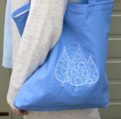 trees, birthday, gift, present, bag, shoulder bag, tote bag, blue, white £10.00