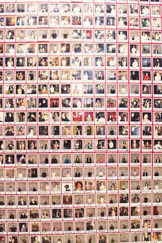 """""""From I took a picture of everyone who visited the studio. Then Polaroid film got super expensive and I ran out of wall space so the project ended there. Polaroid Display, Polaroid Wall, Polaroids, Candice Pool, Lego Studios, Hipster Bedroom Decor, Casey Neistat, Vsco, Teen Decor"""