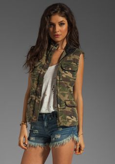 CAPULET Quilted Vest in Camouflage at Revolve Clothing - Free Shipping!
