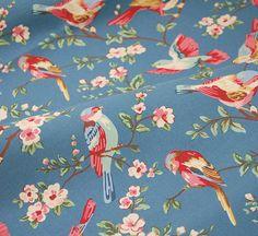 Tessuto di cotone canvas Bird in largo 140 cm di Chic and Easy su DaWanda.com