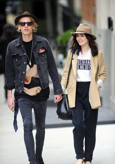 Lily Collins and Jamie Campbell Bower <3