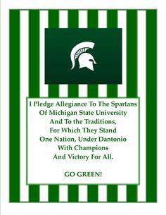 Sparty on!  I'm reciting this everyday from now on!