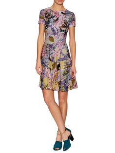 Jynx Printed Fit and Flare Dress by Mary Katrantzou at Gilt