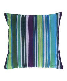 Another great find on #zulily! Lime Stripe Throw Pillow #zulilyfinds