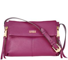 As Is Aimee Kestenberg Pebble Leather Crossbody - Bali Mulberry Bag, Just Shop, Pebbled Leather, Leather Crossbody Bag, Purses And Bags, Bali, Handbags, Qvc, My Style