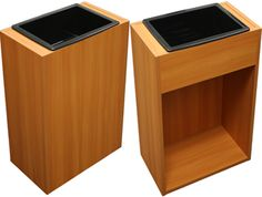 (2PC) Pearwood Shampoo Cabinets