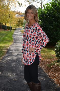 """""""Ikat"""" You Looking tunic, red – Chapter 2 Boutique"""