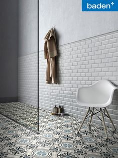 Discover Subway collection: see the magic in this finely crafted tile with the translucent glazed surface and the elegant bevel edge, which adds more style. Minimal Home, Bathroom Inspiration, Bathroom Ideas, Sweet Home, New Homes, Concept, Ceramics, Interior Design, Home Decor