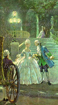 Rare 1800's Card Stock Print  Royal Countess by StorybookArtifact, $10.00