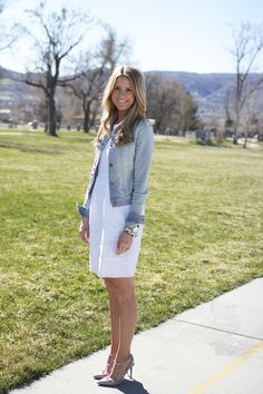 Love this J.Brand denim jacket worn by Emily of The Ivory Lane!