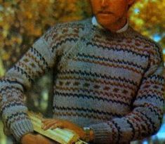 PLETENÍ – NÁVODY – Katalog návodů zdarma pro ruční pletení Drops Design, Drops Baby, Men Sweater, Pink, Retro, Sweaters, Breien, Kleding, Men's Knits