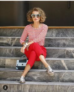 red for spring and summer outfit