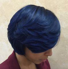 Blue! @salonchristol - http://community.blackhairinformation.com/community-pictures/bl/