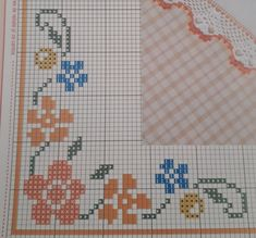 Cross Stitch Borders, Cross Stitch Flowers, Cross Stitch Designs, Cross Stitch Patterns, Chicken Scratch Embroidery, Bargello, Vintage Floral, Hand Stitching, Embroidery Stitches
