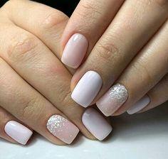 beautiful acrylic short square nails design for french manicure nails 53 Square Nail Designs, Short Nail Designs, Solid Color Nails, Nail Colors, Pink Nails, My Nails, Gradient Nails, Acrylic Nails, Glitter Nails