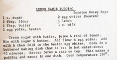 Lemon Dessert Recipes, Lemon Sauce, Cream And Sugar, Juice, Juices, Juicing