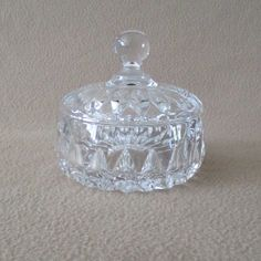 Here is a Full Lead Crystal Candy Dish with the Althea pattern made by the Gorham Company in Germany. Age of this dish is unknown and there is no maker marks on the dish or cover any wear. Cut Glass, Glass Art, Pi Projects, Crystal Decor, Vintage Candy, Dish Sets, Candy Dishes, Vintage Glassware, Makers Mark