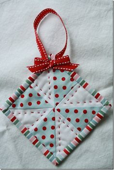 quilted ornament can do with kids baby stuff