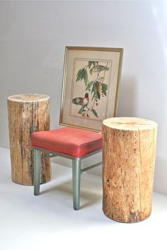 Items similar to Tall Stump Table on Etsy Decor, Stump Table, Beautiful Furniture, Chair Woodworking Plans, Table, Home Decor, Wood Diy, Cool Tables, Outdoor Wood