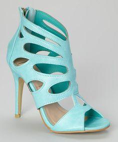 Love this Green Cutout Buena Sandal on #zulily! #zulilyfinds