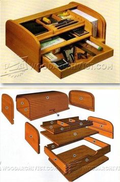Tambour Desk Organizer Plans - Woodworking Plans and Projects | WoodArchivist.com