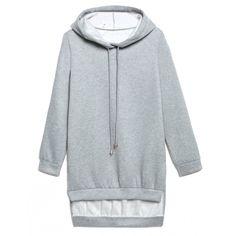 Sina Split Hoodie Sweatshirt Outfit Made ($33) ❤ liked on Polyvore featuring tops, hoodies, hoodie top, sweatshirt hoodies, hooded pullover and hooded sweatshirt