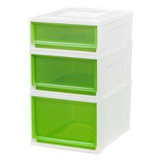 Utility Storage Bins Plastic 3Pc Green   Iris