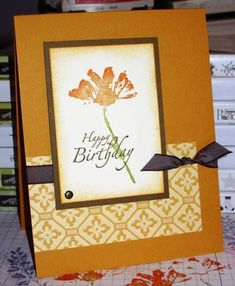 Fall Petal Prints by Christy S. - Cards and Paper Crafts at Splitcoaststampers