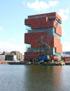 MAS museum Eilandje Antwerp hand