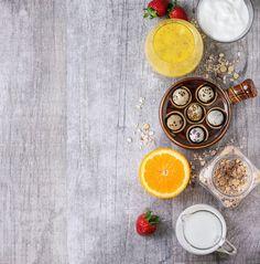 Food background with healthy breakfast by Natasha Breen on @creativemarket. Price $11 #healthyfoodphotostock #healthybreakfastphotostock