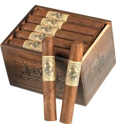 <strong>Gurkha Evil</strong> <BR><BR> A rare and exclusive shade-grown, Brazilian Mata Fina Wrapper, accompanied by a perfect Dominican Binder and exquisite Nicaraguan filler makes this a spicy and full-bodied cigar. Rated 90.