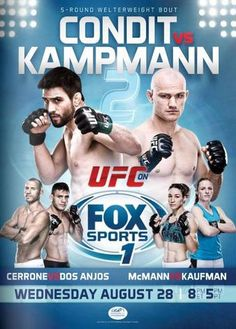 UFC Fight Night 27: Condit vs. Kampmann 2 Fightcard