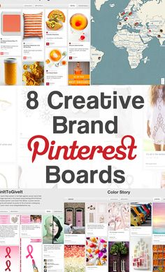 The following eight Pinterest boards come from brands on Pinterest that have unique creative board themes.