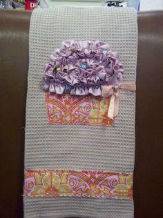 Cupcake tea towel. Example of custom embroidery/sewing Custom embroidery/sewing items always for sale.