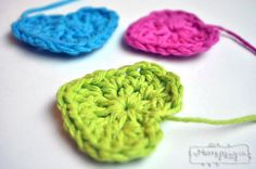 Simple Crochet Heart - Free Pattern and Photo Tutorial