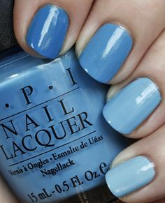 ombre nails, blue, OPI