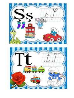 S.T.R.U.M.F.: Alfabetul strumfilor Alice In Wonderland Party, Classroom Decor, Alphabet, Comics, School, Fun, Future, Future Tense, Alpha Bet