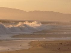 Playa Del Rey last week. Great swell, big shore pound waves.