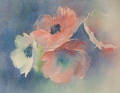 Blanche Odin, quelle délicatesse! Atelier D Art, Desiderata, Watercolor Flowers, Pencil Drawings, Watercolours, Artist, Prints, Bouquets, Paintings