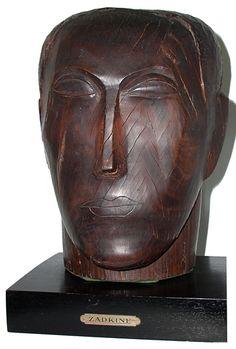 Ossip Zadkine (1890-1967) - Tête d'homme (1928)