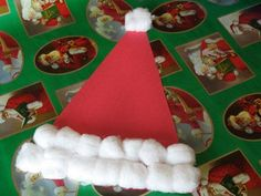 Santa's Hat--this would be cute to make into a notepad for story writing!!    http://crafts.slides.kaboose.com/326-christmas-crafts/9