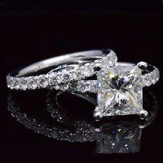 4.32 Ct. Princess Cut Diamond Bridal Eternity Set G,VS1 EGL - Recently Sold Engagement Rings