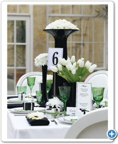 bruiloft-thema-zwart-wit