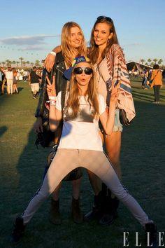 Models at festival