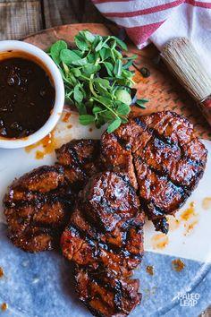 best=Cajun Style Steak With Spicy Mango Glaze Paleo Leap Coy Love Cajun Recipes, Steak Recipes, Grilling Recipes, Paleo Recipes, Healthy Dinner Recipes, Juicer Recipes, Detox Recipes, Mango Glaze Recipe, Spicy Steak